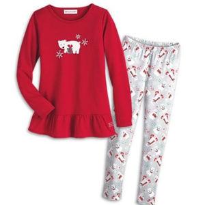 American Girl Pajamas Girls Polar Bear Sz M 10 12